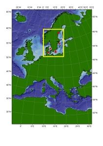 Syväkairausalueet on  merkitty karttaan punaisella